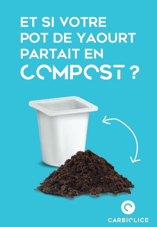 recyclage pot de yaourt plastique compostable